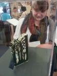 One of the library gals, Susannah, who is also an artist.
